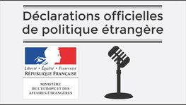Statement by Mr Jean-Yves Le Drian, French Minister for Europe and (...)